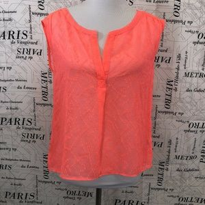 American Eagle Outfitters M Shirt Hot Pink Sheer